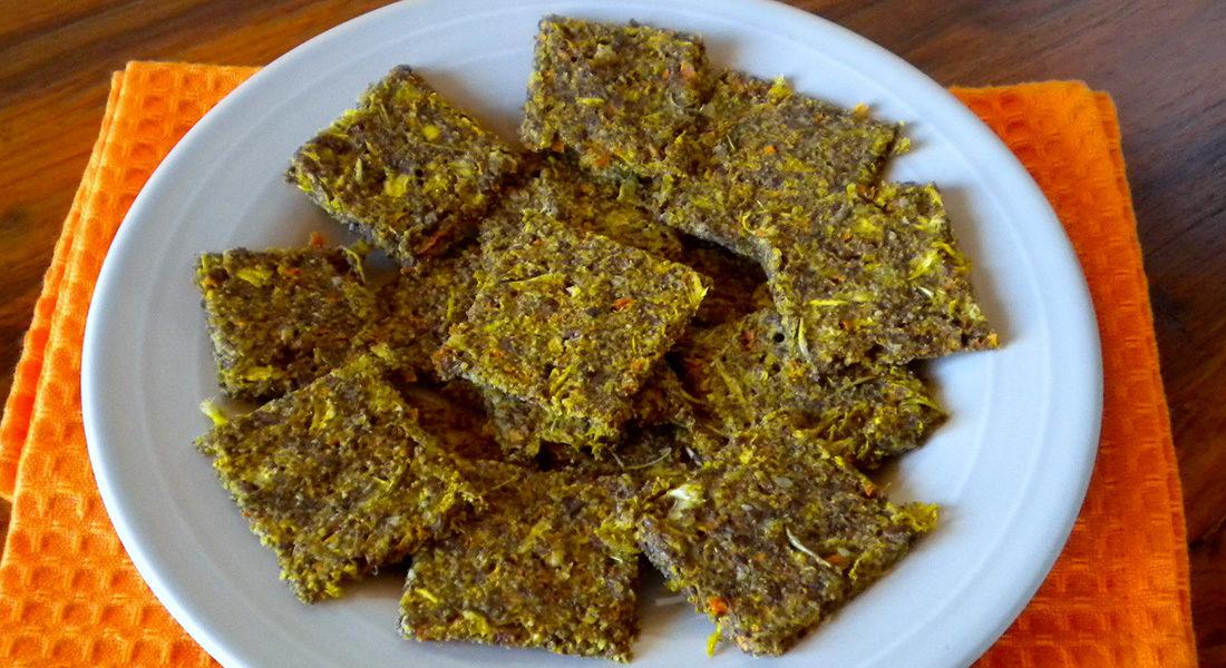 Cracker di avena, semi e verdure