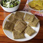 Focaccia di lenticchie, zucchine e semi di lino